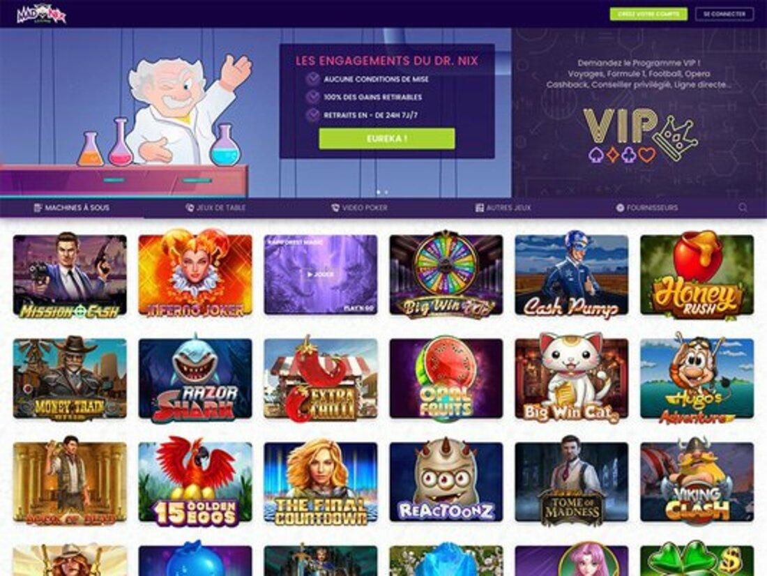 Madnix casino avis : choisissez de gagner plus
