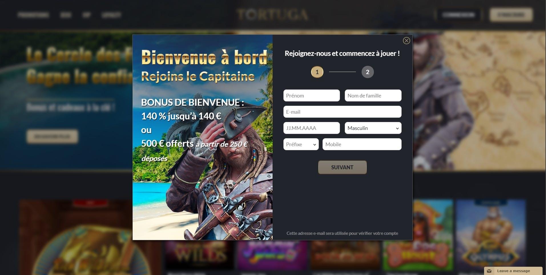 Test Tortuga Casino : notre avis sur ce casino en ligne
